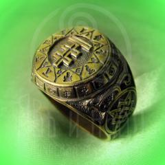 """кольцо """"Чертог Лисы"""" бронза"""