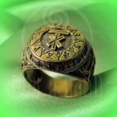 """кольцо """"Чертог Лося"""" бронза"""
