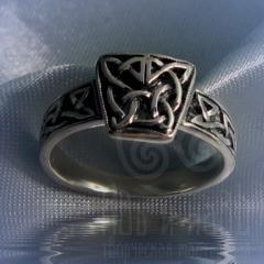 """кольцо """"Кельтика"""" серебрение"""