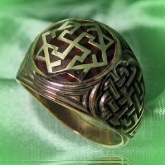 """кольцо """"Валькирия - I"""" бронза.эмаль"""