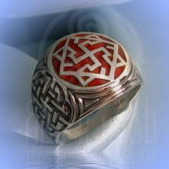 """кольцо """"Валькирия - I"""" серебрение.эмаль бордо"""