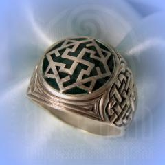 """кольцо """"Валькирия - I"""" серебро.эмаль бирюза"""