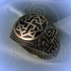 """кольцо """"Валькирия - I"""" серебро.эмаль черная"""