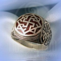 "кольцо ""Валькирия - I"" серебро.эмаль бордо"