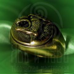 """кольцо """"Волчий оскал"""" бронза"""