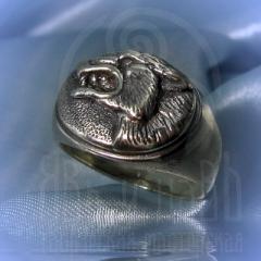 """кольцо """"Волчий оскал"""" серебро"""