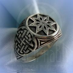 "кольцо ""Звезда Алатырь - I"" серебро"