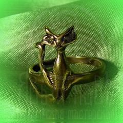 """кольцо """"Богиня Баст"""" бронза"""