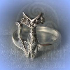 """кольцо """"Богиня Баст"""" серебрение"""