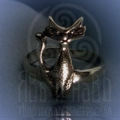 """кольцо """"Богиня Баст"""" серебро"""