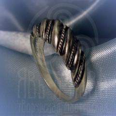 """кольцо """"Витое  2"""" серебрение"""