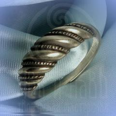 """кольцо """"Витое  2"""" серебро"""