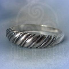 """кольцо """"Витое  3"""" серебрение"""