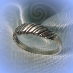 """кольцо """"Витое  3"""" серебро"""