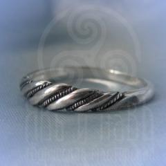 """кольцо """"Витое узкое"""" серебрение"""