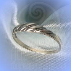 """кольцо """"Витое узкое"""" серебро"""