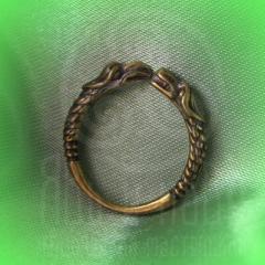 """кольцо """"Грифон и собака"""" бронза"""