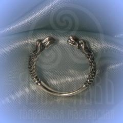 """кольцо """"Грифон и собака"""" серебро"""
