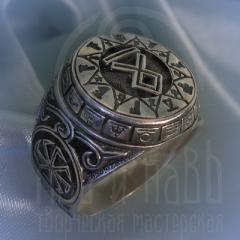 """кольцо """"Чертог Волка"""" серебрение"""