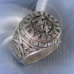 """кольцо """"Чертог Лося"""" серебрение"""