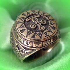 """кольцо """"Чертог Змея"""" бронза"""