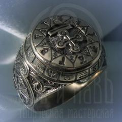 """кольцо """"Чертог Змея"""" серебро"""