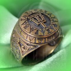 """кольцо """"Чертог Ворона"""" бронза"""