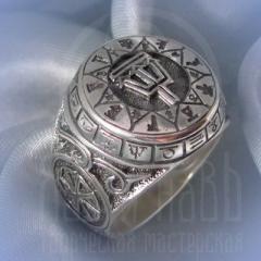 """кольцо """"Чертог Ворона"""" серебрение"""