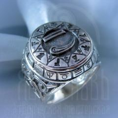 """кольцо """"Чертог Лебедя"""" серебрение"""