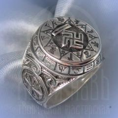 """кольцо """"Чертог Вепря"""" серебрение"""