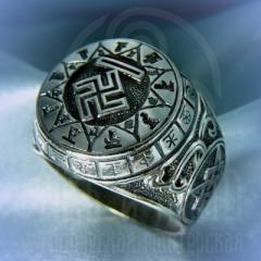 """кольцо """"Чертог Вепря"""" серебро"""