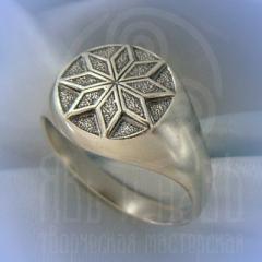 "кольцо ""Звезда Алатырь - II"" серебро"