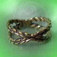 """кольцо """"Веревки"""" бронза"""