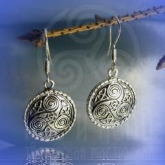 """серьги """"Кельтский триксель"""" серебрение"""