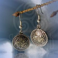 """серьги """"Кельтский триксель"""" серебро"""