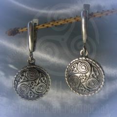 """серьги """"Кельтский триксель  2"""" серебро"""
