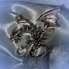 "подвес ""Дракон гигант"" серебрение"