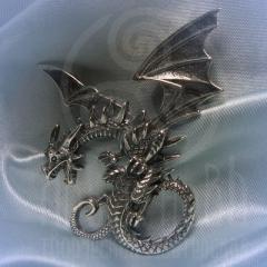 """подвес """"Дракон гигант"""" серебро"""