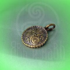 """подвес """"Кельтский триксель"""" бронза"""