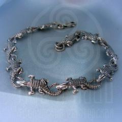 "браслет ""Крокодильчики"" серебро"
