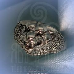 """кольцо """"Волк"""" серебро арт.2025"""