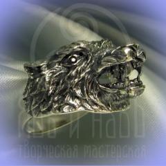 """Кольцо """"Волк""""серебрение Арт.2692с"""