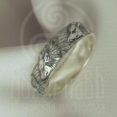 """Кольцо """"Волки"""" Арт.2735с серебрение"""