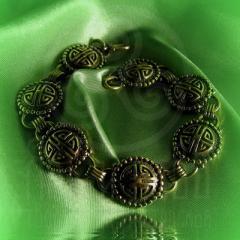 """Браслет """"Кельтские узоры"""" Арт. 1076л латунь"""
