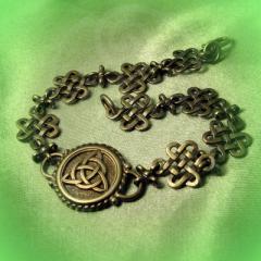 """Браслет """"Кельтский узел любви и Трилистник"""" Арт. 1098л латунь"""