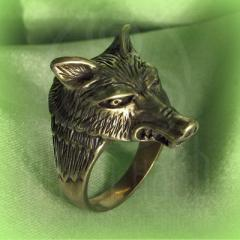 "Кольцо ""Волк"" Арт.2754л латунь"
