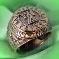 """кольцо """"Чертог Девы"""" бронза"""