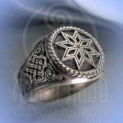 """кольцо """"Звезда Алатырь - III"""" серебро арт.2660"""