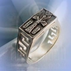 """кольцо """"Анх"""" серебрение"""