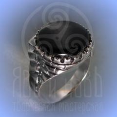 """Кольцо """"Башня""""серебрение Арт.2529с"""